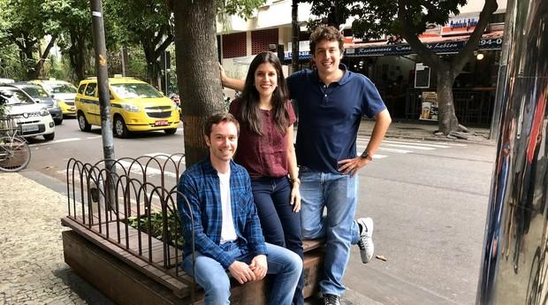 Renato Mendes, Priscilla Erthal e Roni Cunha Bueno, sócios da Organica (Foto: Divulgação)