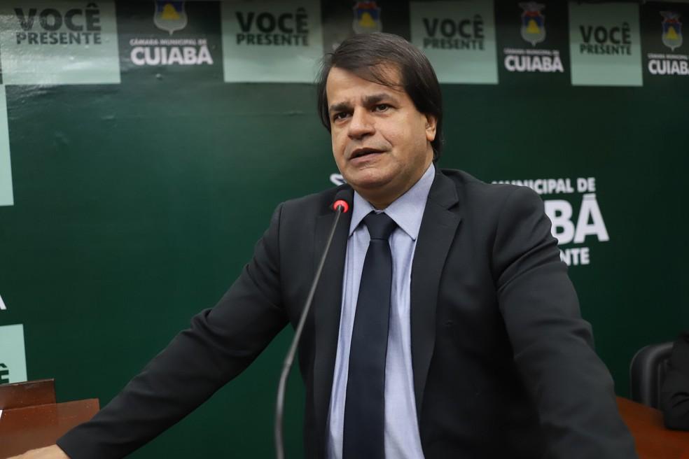 Adevair Cabral prestou queixa contra o colega por difamação — Foto: Nemias Coelho/ Câmara de Cuiabá