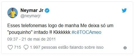 Neymar resume em um tuíte o signo de áries  (Foto: Reprodução / Twitter)