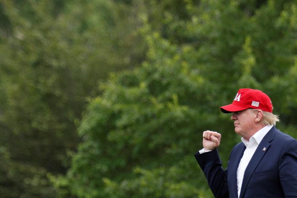 """Trump tuitou a pergunta: """"Se o mundo está ficando mais quente, por que, então, está fazendo tanto frio nos EUA""""? — Foto: Tom Brenner/Reuters"""