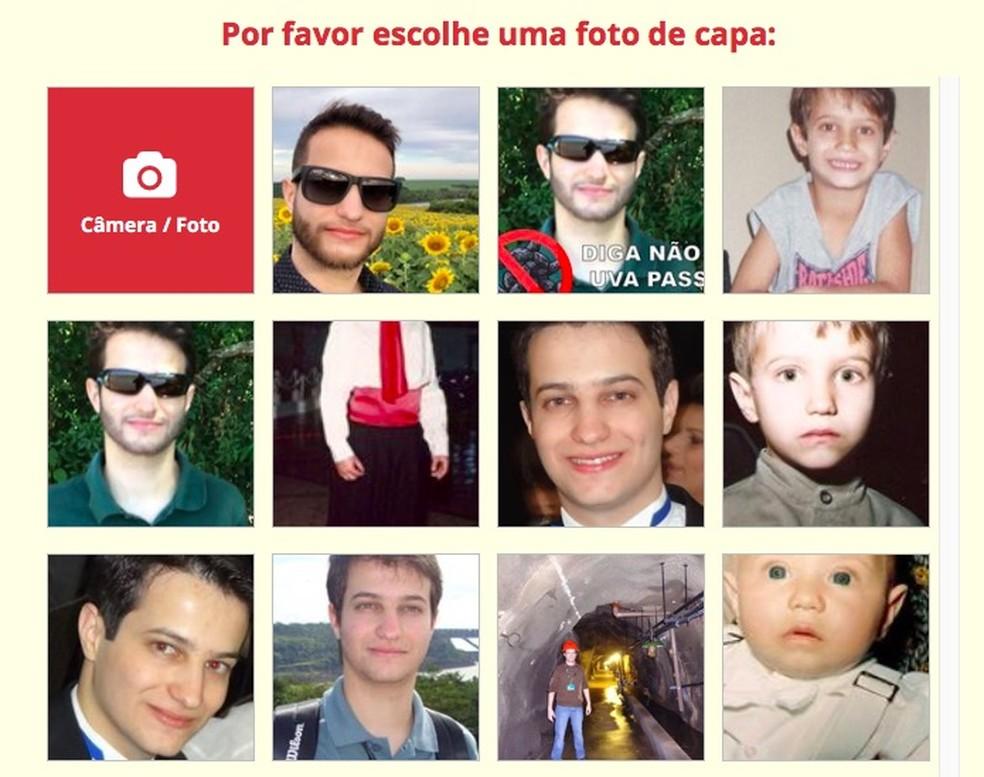 Escolha a foto que você quer usar (Foto: Reprodução/Helito Bijora)