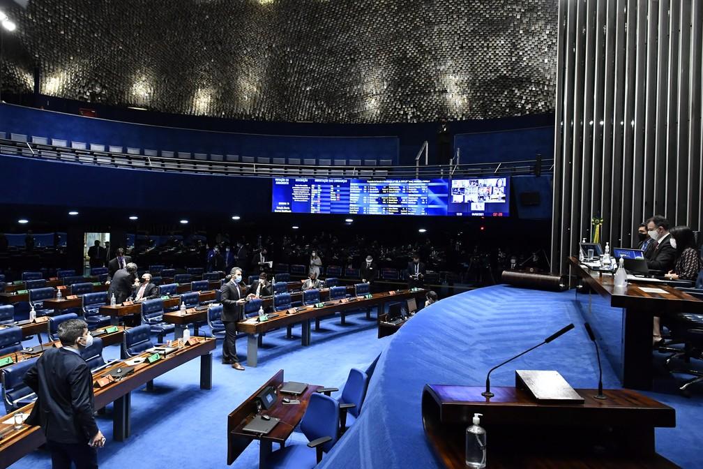 Plenário do Senado (04/03/21) — Foto: Waldemir Barretos/Agência Senado