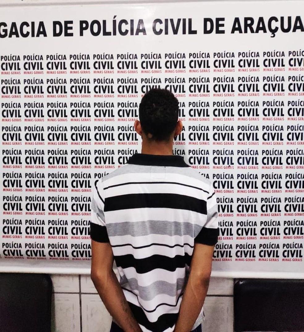 Rapaz se entregou na delegacia nessa segunda (27) e confessou o crime — Foto: Polícia Civil/ Divulgação