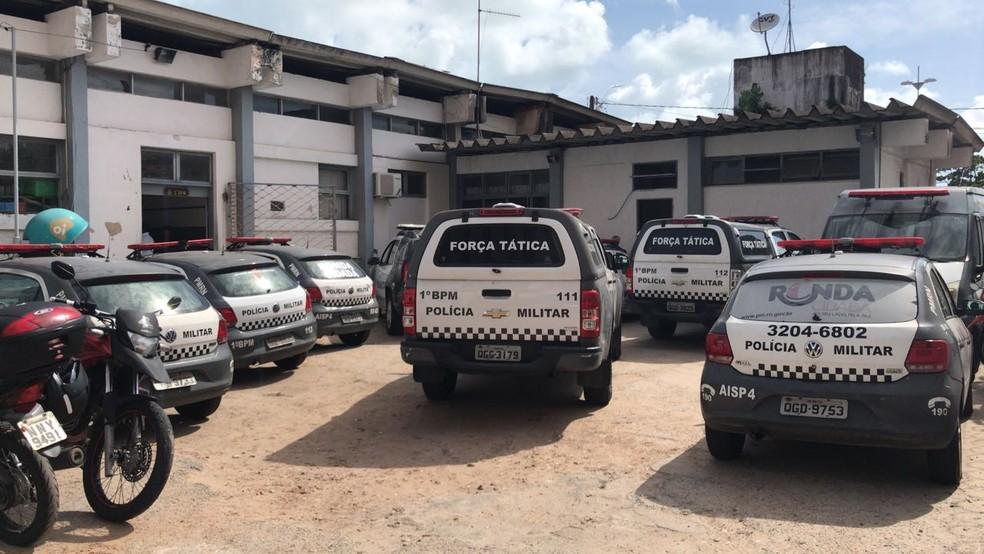 Policiais do 1º Batalhão, que cobrem a Zona Leste de Natal, também ficaram aquartelados nesta terça (19); 19/12/2017 (Foto: Polícia Militar/Divulgação)