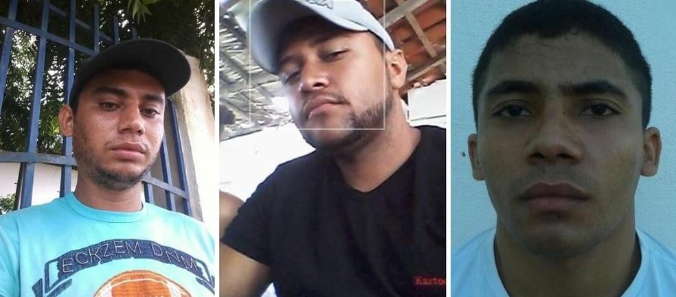 As vítimas foram identificadas como Mário Sérgio Alves de Assis, de 26 anos, Camilo Pedro Fernandes, de 27 Anos e Francinildo Cortez.— Foto: Reprodução