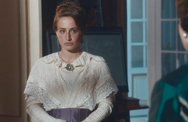 Na terça-feira (12), Leopoldina exigirá que Luísa convença Dom Pedro a desistir de casá-la. Já Pilar será atingida por um tiro de Borges  (Foto: TV Globo)