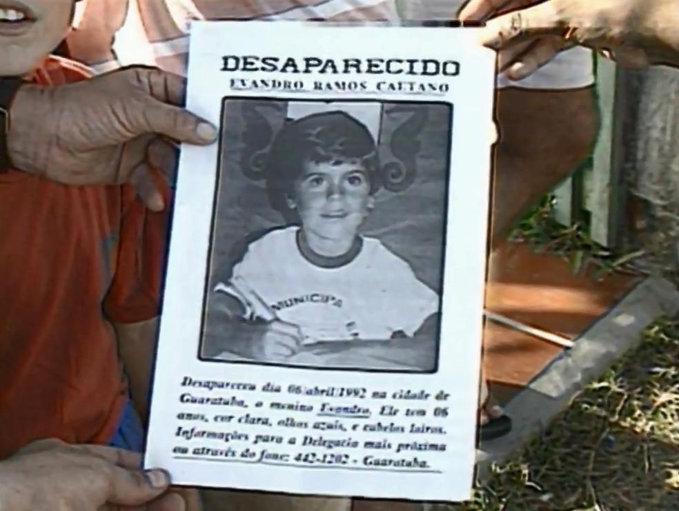 Programa conta a história do desaparecimento do menino Evandro, de 1992 — Foto: Reprodução/RPC