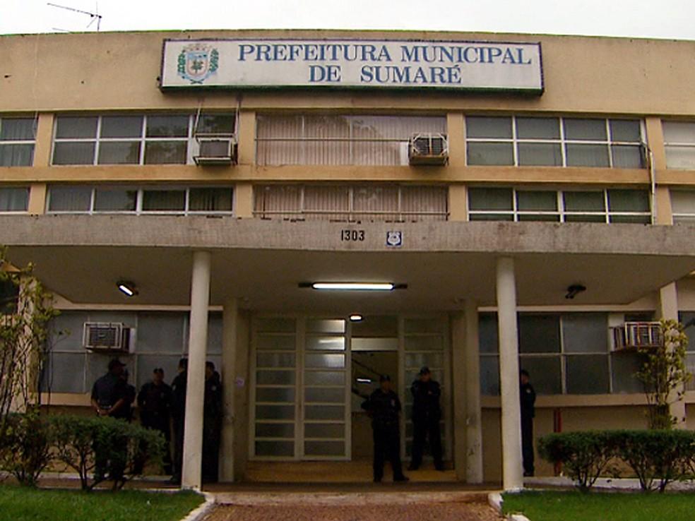 Prefeitura de Sumaré: sentença aponta que não houve apresentação de defesa (Foto: Reprodução EPTV)