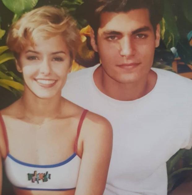 Bianca Rinaldi e Thiago Lacerda em Malhação, em 1997 (Foto: Reprodução/Instagram)