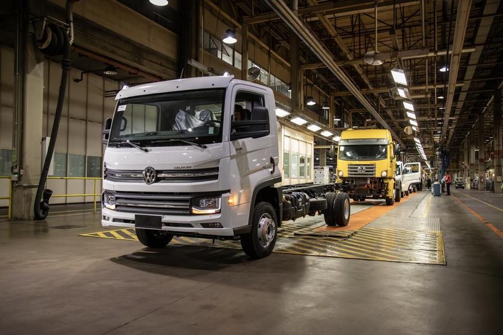 Fábrica de caminhões da Volkswagen — Foto: Divulgação