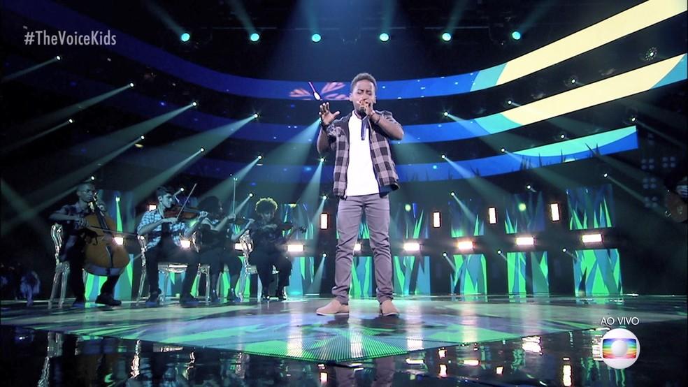 Capixaba Jeremias vence mais uma etapa e está na final no The Voice Kids — Foto: Reprodução/ TV Globo