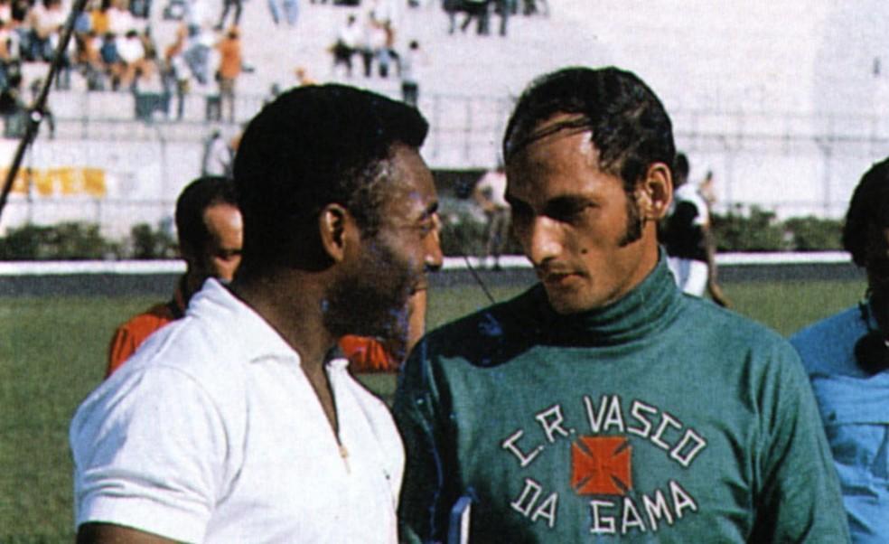 Pelé e Andrada — Foto: Globoesporte.com / Reprodução