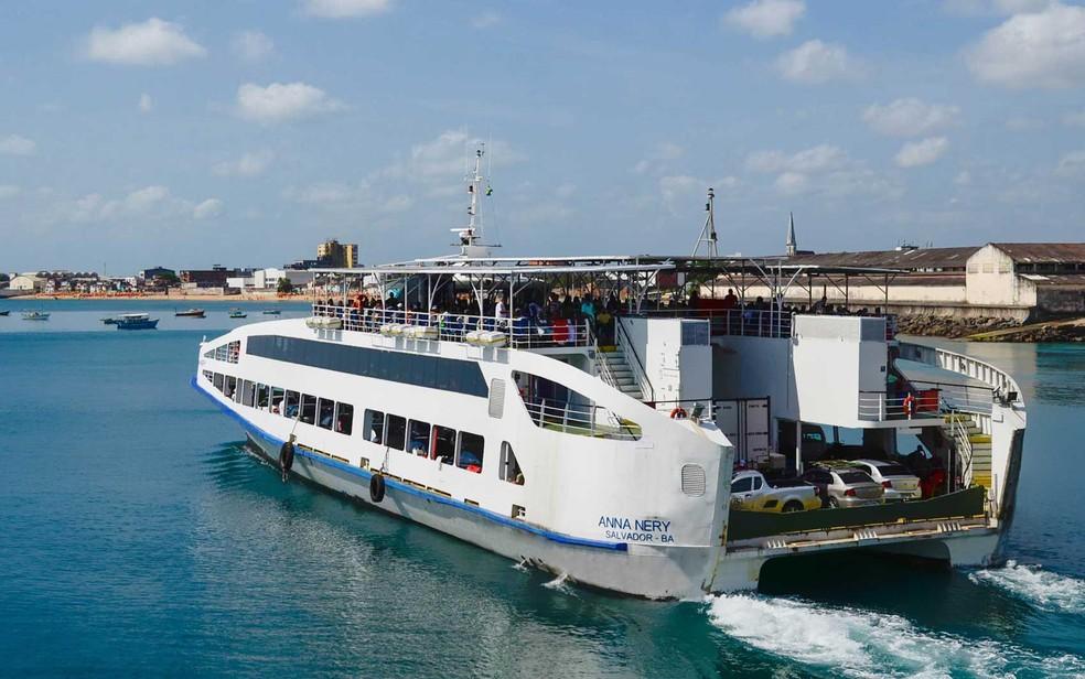 Ferry boat tem movimento tranquilo nesta terça (Foto: Divulgação/Internacional Travessias)
