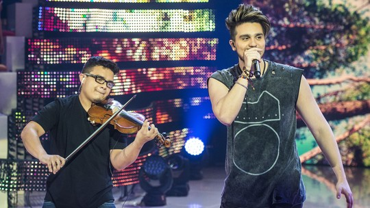 Luan Santana cumpre promessa e conhece violinista que ficou famoso tocando seu hit