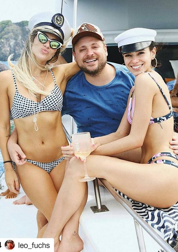 Bruna Marquezine, Giovanna Ewbank e Leo Fuchs (Foto: reprodução/Instagram)