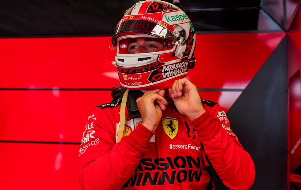 Charles Leclerc testa com Ferrari em Mugello — Foto: Reprodução