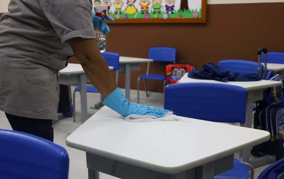 Higienização deve ser constantemente, segundo protocolo (arquivo) — Foto: Divulgação