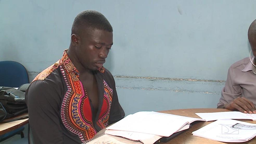 O intercambista de Guiné Bissau, Siaca Dabo, disse que os africanos são vítimas da má governança (Foto: Reprodução/TV Mirante)