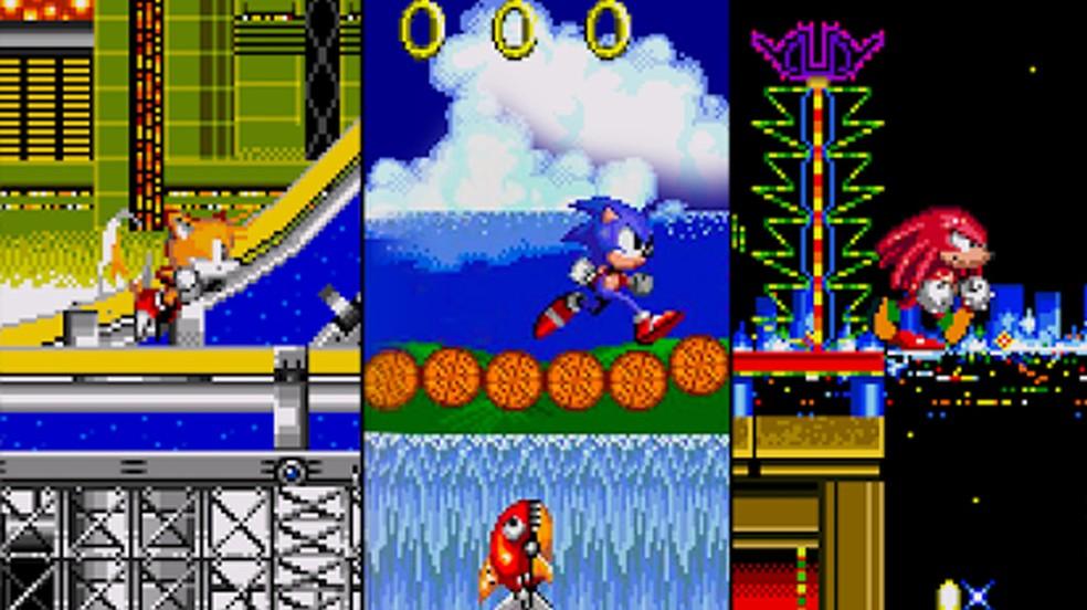 A sequência Sonic the Hedgehog 2 adicionou Tails e esta versão para Android e iOS conta ainda com Knuckles como extra — Foto: Reprodução/Google Play