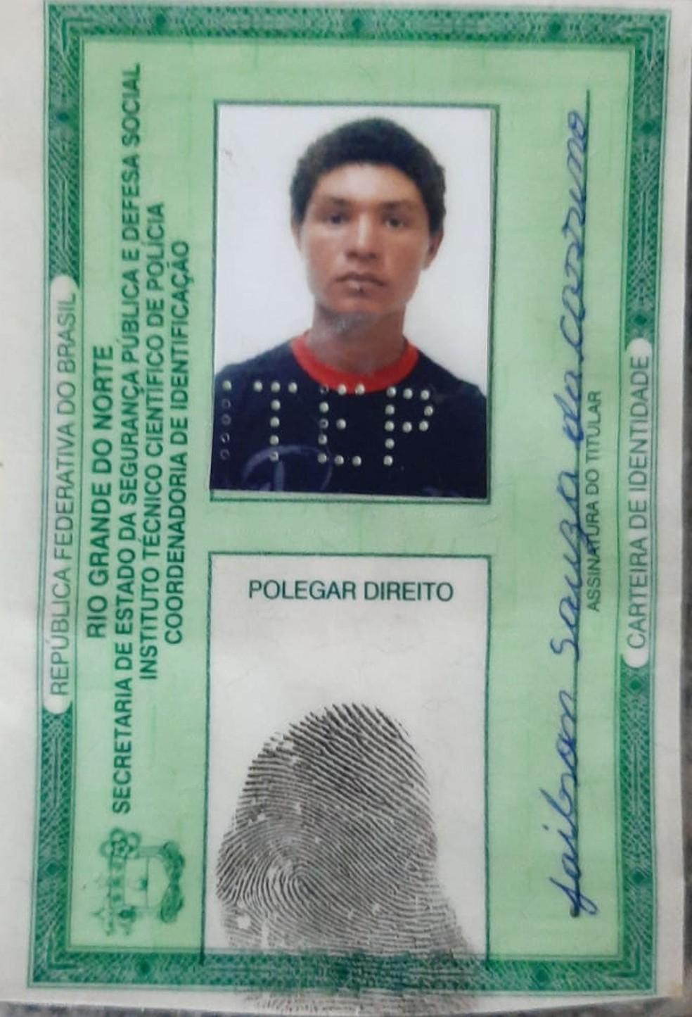 Jailson de Souza Cassiano, de 26 anos, foi morto na noite desta segunda-feira (3), em Areia Branca — Foto: Divulgação/Itep-RN