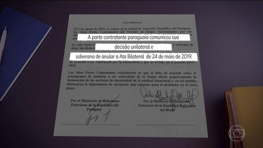 Brasil e Paraguai anulam acordo sobre Itaipu e risco de impeachment de Abdo é afastado