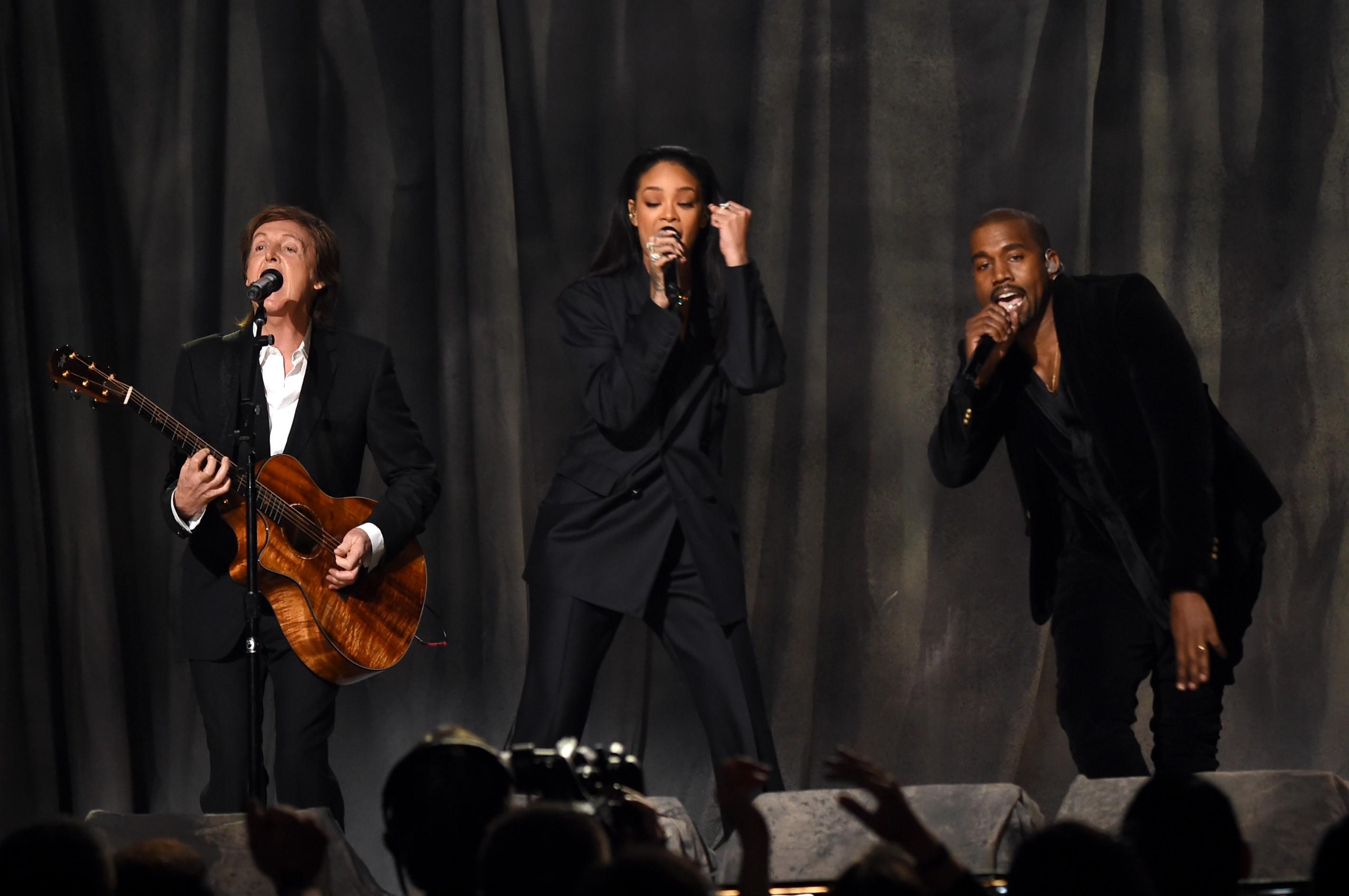 Paul McCartney, Rihanna e Kanye West (Foto: Getty Images)