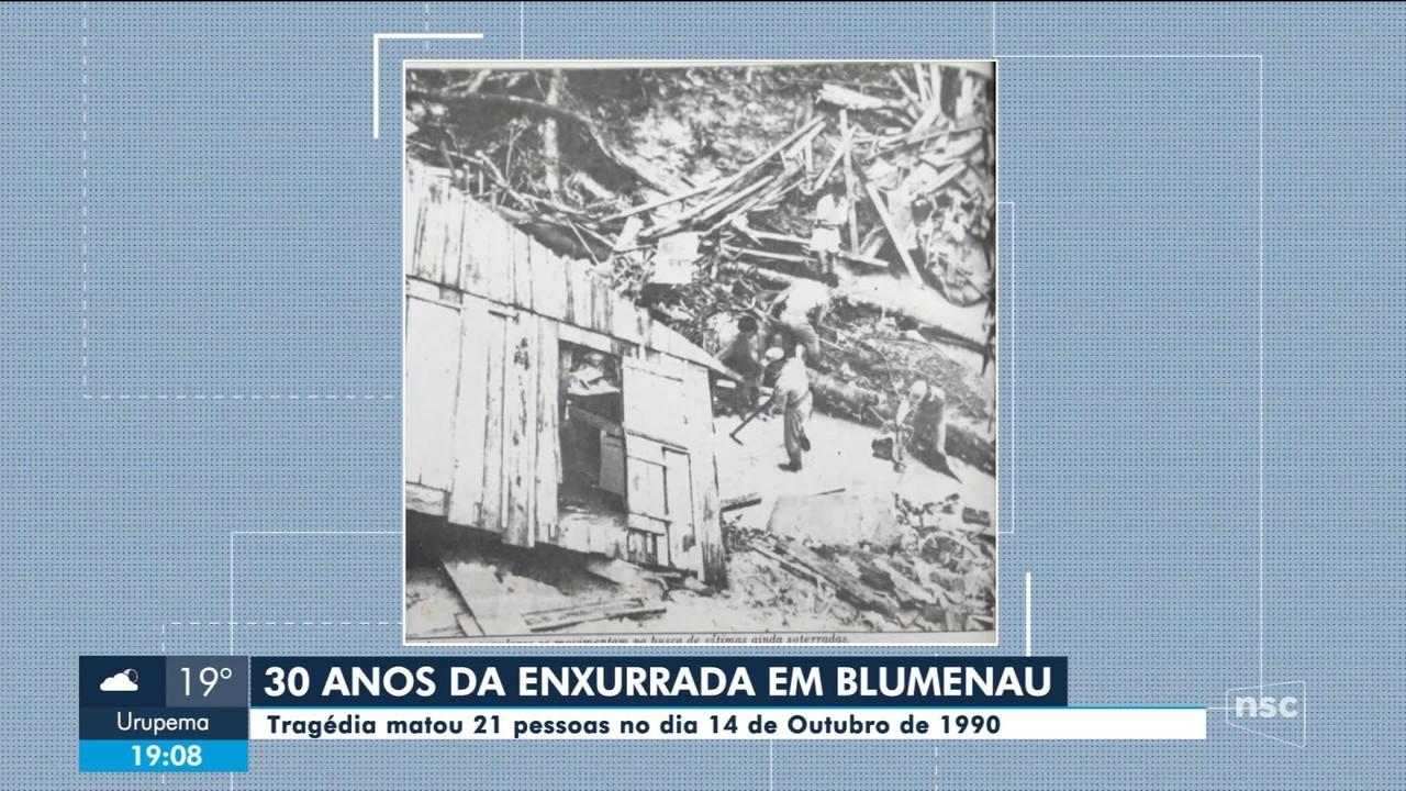 Enxurrada que devastou Blumenau completa 30 anos