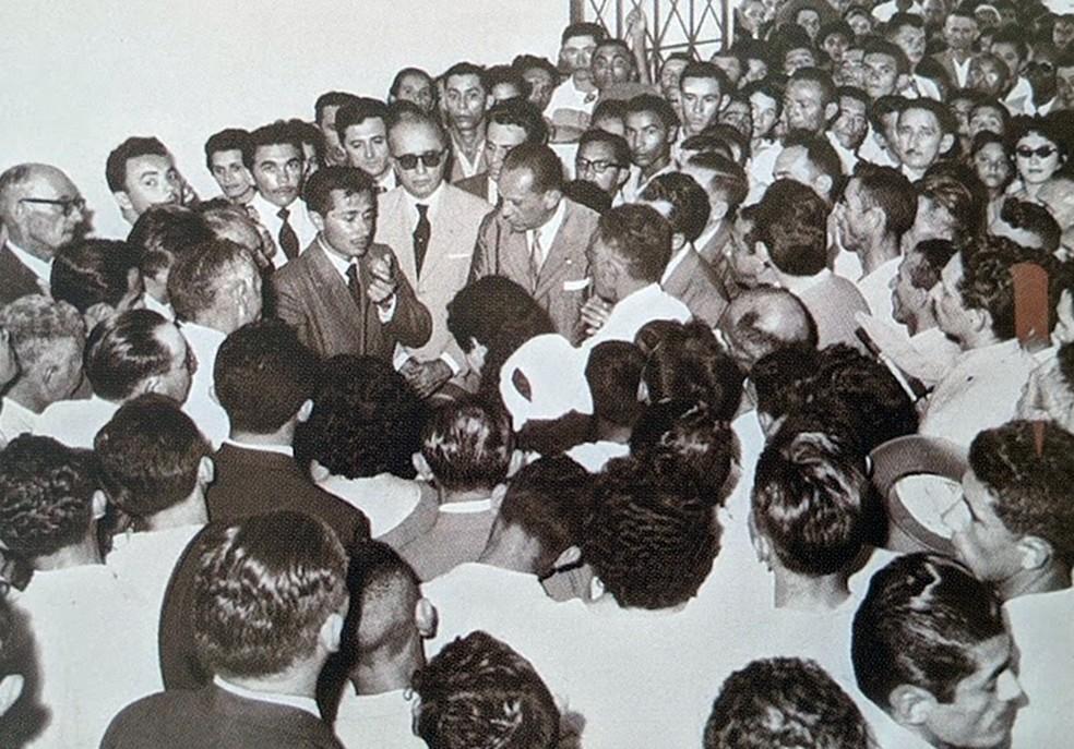 José Maranhão no início da carreira política — Foto: Arquivo Pessoal
