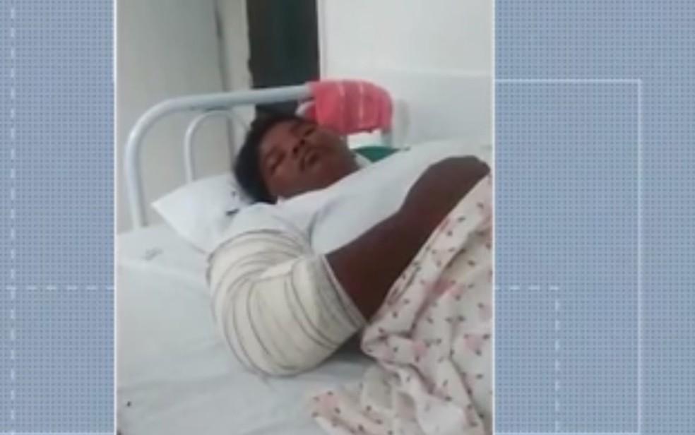 Jovem é mantida em cárcere privado durante cinco meses por companheiro de 17 anos na BA — Foto: Reprodução / TV Santa Cruz