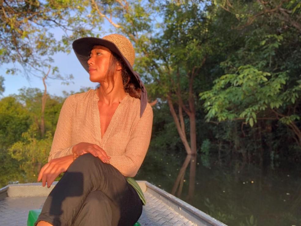 Danni Suzuki ressalta a importância do contato com a natureza: 'Estar mais próxima de Deus' — Foto: Arquivo Pessoal