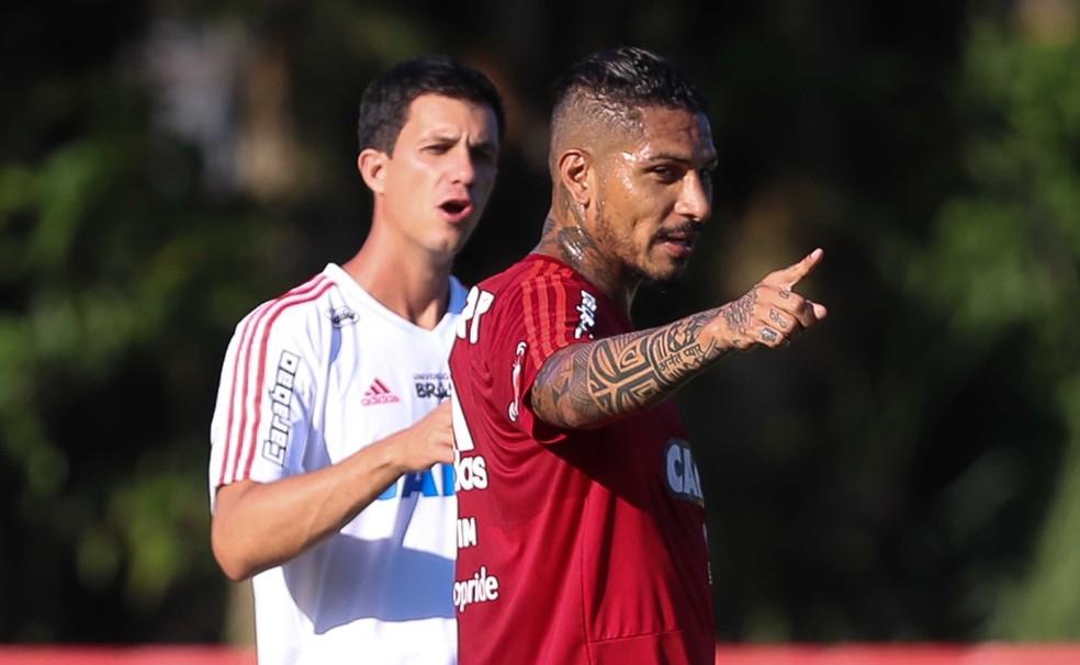 Maurício Barbieri e Guerrero (Foto: Gilvan de Souza / Flamengo)