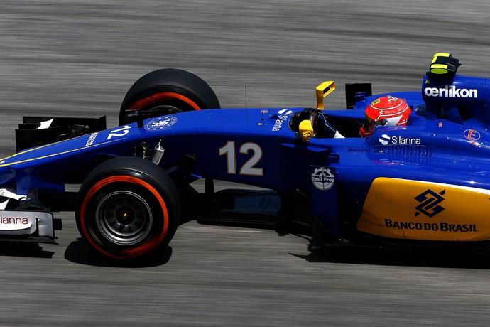 Felipe Nasr, da Sauber, no 2º treino livre para o GP da Malásia (Foto: Getty Images)