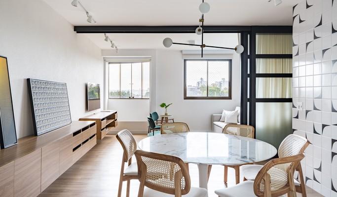 Apartamento em Brasília ganha integração e iluminação natural