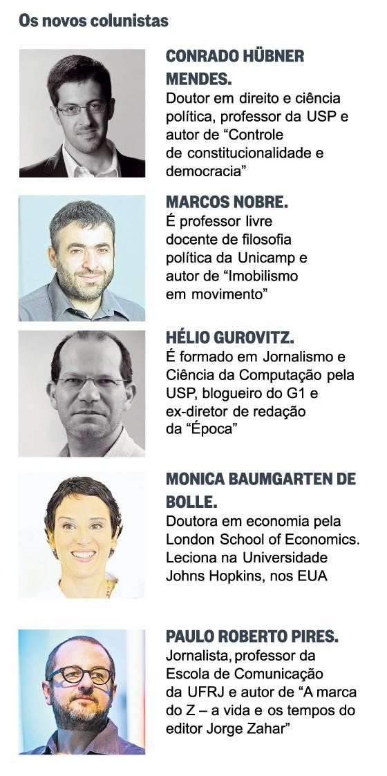 Novos colunistas ÉPOCA (Foto: Editoria de Arte)