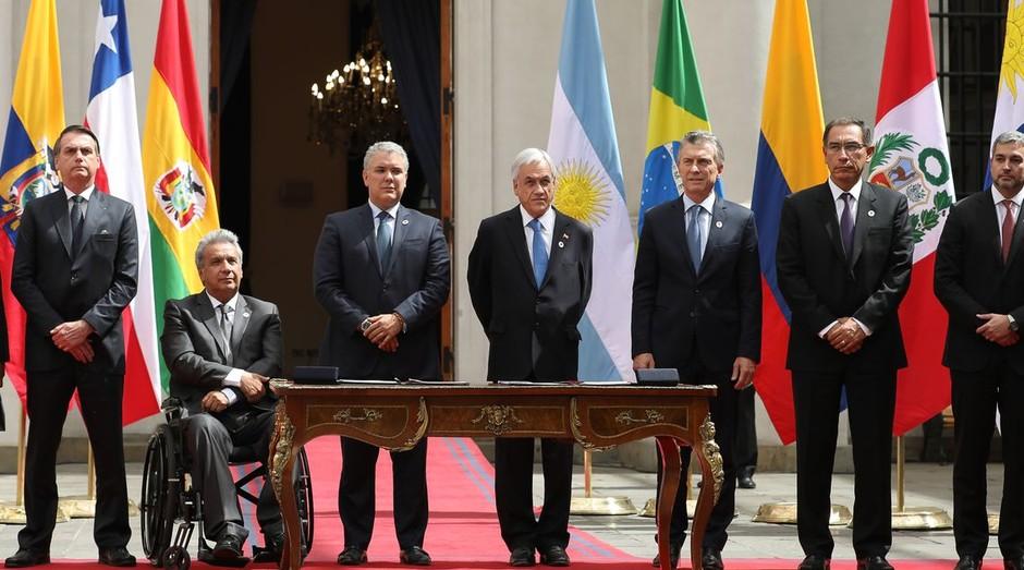 Bolsonaro se reúne com Piñera no Chile (Foto: Marcos Corrêa/PR/Agência Brasil)