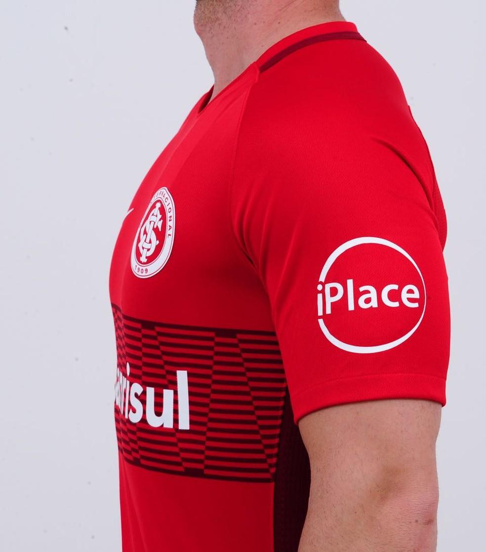4120cffd4c779 ... Inter anunciou acordo com novo patrocinador na manga da camisa — Foto   Divulgação