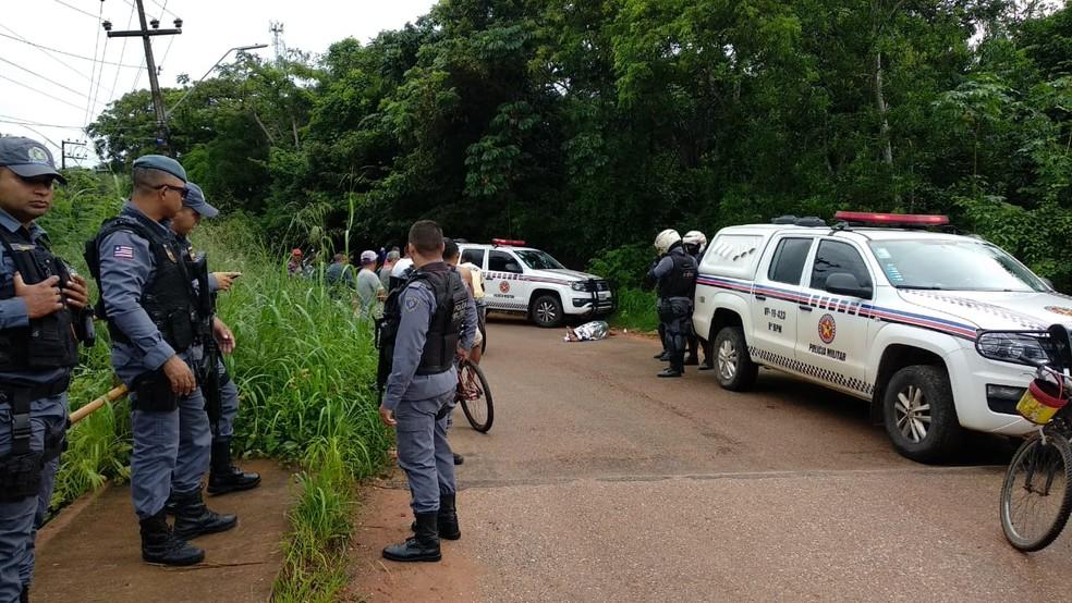 Sargento Washington Ferreira Nogueira foi assassinado com um tiro na cabeça em São José de Ribamaar — Foto: Douglas Pinto/TV Mirante