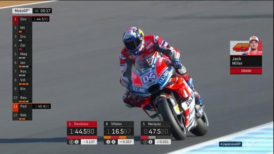 Dovizioso vai largar na pole na etapa do Japão da MotoGP. Márquez inicia em 6º