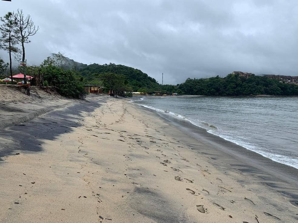 Praia da Mococa em Caraguatatuba. — Foto: João Mota / TV Vanguarda