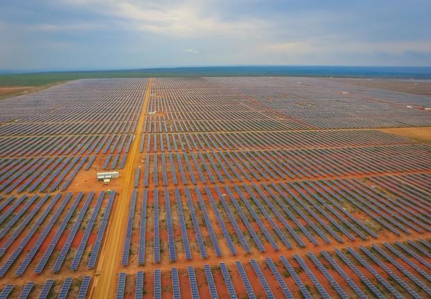 Enel inicia construção da usina de energia solar no parque de Horizonte, na Bahia. Companhia investiu US$ 110 milhões na planta (Foto: Divulgação/Enel)