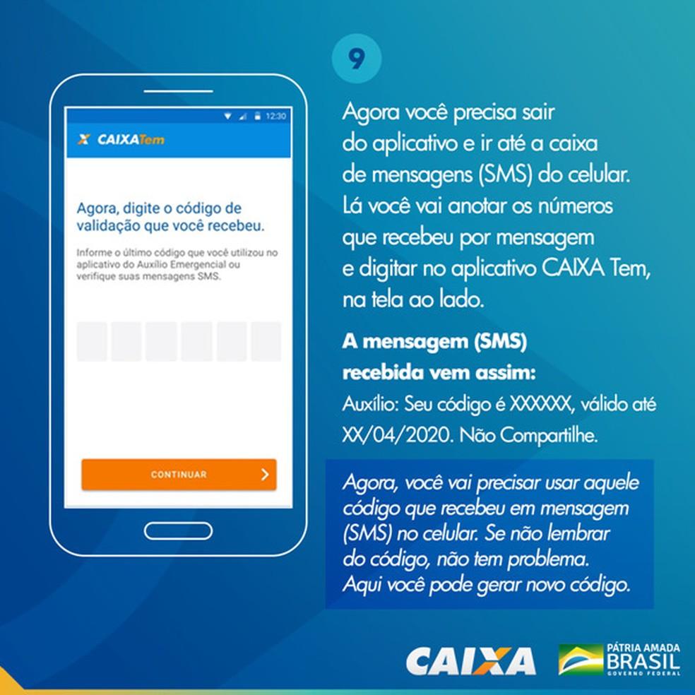 Tela 9 para pedir abertura da poupança social digital — Foto: Divulgação Caixa