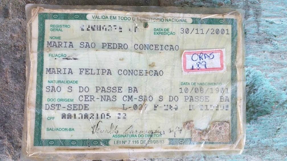 Maria São Pedro nasceu em 1901 — Foto: João Souza/G1