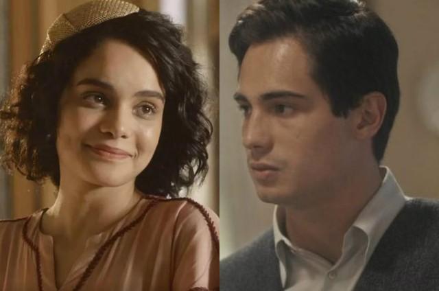 Carol Macedo e Danilo Mesquita são Inês e Carlos em 'Éramos seis' (Foto: TV Globo)