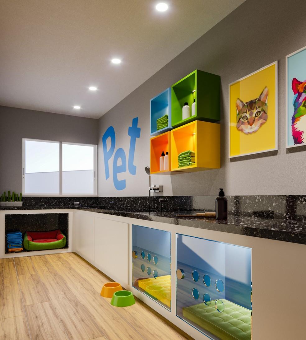 Pet Home Care é um dos itens que o residencial Vitória Shore oferece para a comodidade dos moradores — Foto: Proeng/ Divulgação