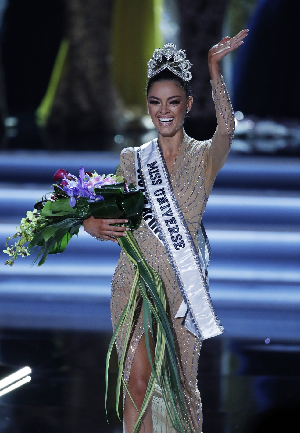 A Miss Universo 2017 Demi-Leigh Nel-Peters (Foto: AP Photo/John Locher)