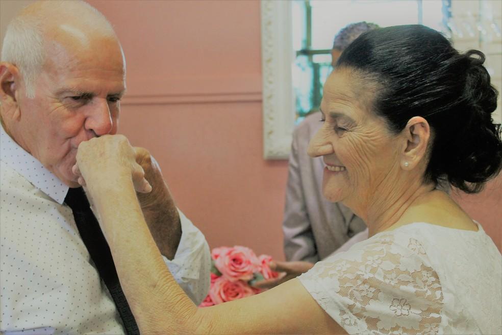 Casamento foi realizado quase um ano após o primeiro encontro em Sorocaba — Foto: Arquivo pessoal/Thais Corrêa