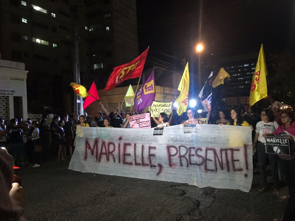 Natal tem ato em homenagem à vereadora Marielle Franco (Foto: Mariana Souto/Cedida)