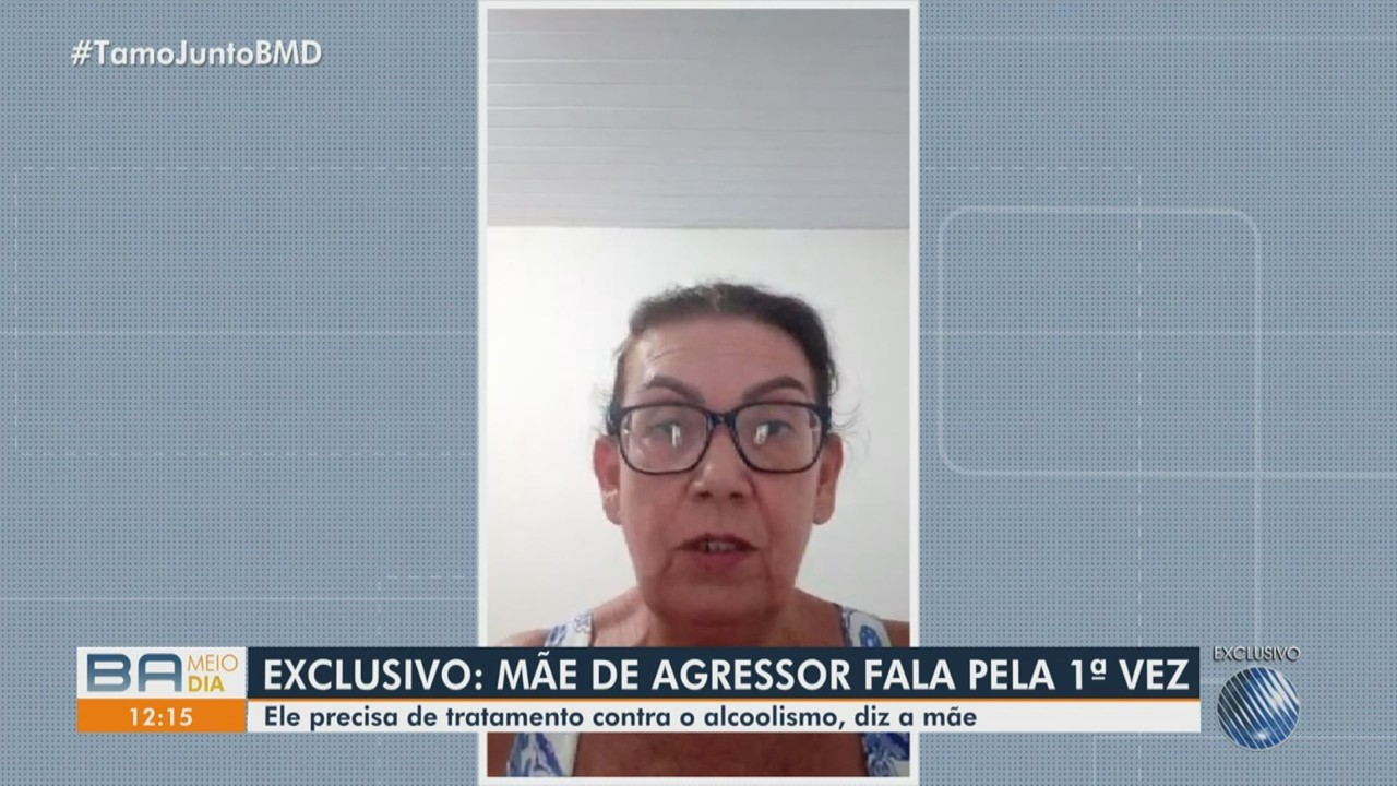 Mãe de suspeito de agredir mulher com socos em Ilhéus fala sobre histórico do filho