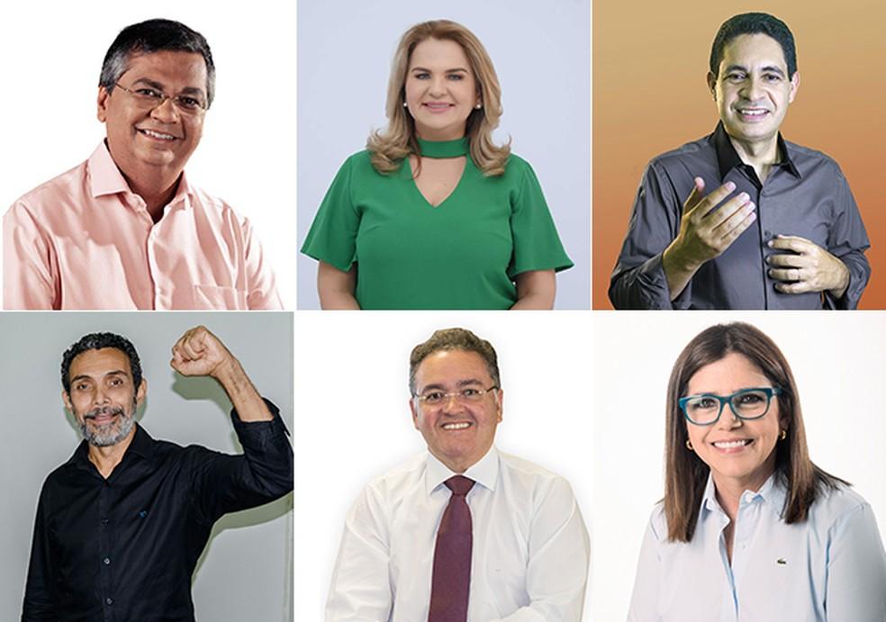 TRE define tempo dos candidatos ao governo no horário eleitoral no Maranhão (Foto: Montagem/G1)
