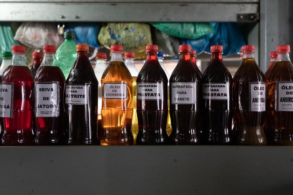 Produtos à venda no mercado 2000, em Santarém — Foto: Marcelo Brandt/G1